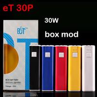 Wholesale E cig box mod original eT P ECT w battery mah micro USB charging interface for ohm vaporizer electronic cigarette