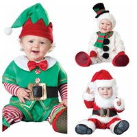 christmas jumpers - InCharacter Costumes Baby s Santa Claus snowman Costume children romper newborn baby one piece rompers babies cosplay jumpers on christmas