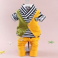 apparel for kids baby - 2015 autumn clothes baby sets baby boys fashion o neck long sleeved suit shirt and pants apparel set clothing for baby kid boy