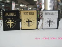bible key chains - 2015wholesale HOLY BIBLE keychain Religious Christian Jesus Book Key chain Key Chain Keyring Chaveiro Gift Souvenir Llaveros
