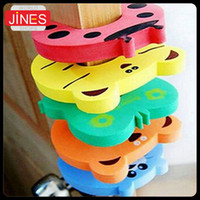 Wholesale 20pcs Cartoon child safety door Carmen file Green baby door stopper Door stop pinch hand security card