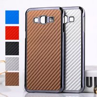 a8000 - For Galaxy A8 Luxury Carbon Fiber with Electroplate Metal Hard PC Back Case for Samsung A8 A8000 quot