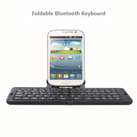 Wholesale Ultrathin Bluetooth Foldable Full size Keyboard Chiclet Wireless Keyboards Mini Keyboard For Mobile Phones Laptops