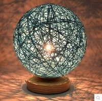 beds wicker - Table Lamps Modern Color Ball Shaped LED Table Lights for Home Indoor Lighting Living Study Room Beside Desk Lamp Bedroom Decor