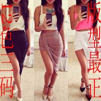aliexpress - ebay AliExpress Europe and the United States sexy asymmetrical skirts irregular hem Slim package hip skirt beach