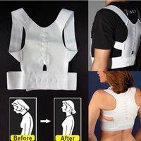 Cheap OPP Bag Packing Magnetic Posture Support Corrector Back Pain Feel Belt Brace Shoulder DHL Free 100pcs