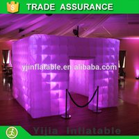 Wholesale portable inflatable cube tent wedding photo booth