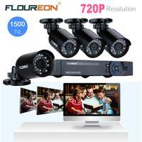 Wholesale FLOUREON CCTV System CH P AHD HDMI H CCTV DVR X MP P TVL Waterproof Outdoor Security Cameras CCTV CH AHD