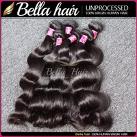 hair products wholesale - 100 Brazilian Virgin Hair Queen Hair Products Hair Extension Body Wave Natural Color Mix length Hair Weaves Weft Bella Hair