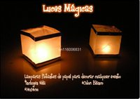 Wholesale Square shape floating water lanterns paper craft lanterns for Christmas party wedding decoration