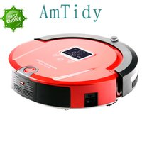 automatic charge control - Red robot Amtidy A320 Automatic Smart Robot Vacuum Cleaner Self Charging LCD Touch Screen Sweeping Robot