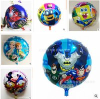 Wholesale balloons Halloween Frozen Balloons Christmas Balloon for Party Decoration styles Helium Cartoon Foil Inflatable Kids Toy A00327