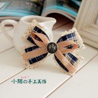Pequeños adornos de pelo de la calle hecha a mano arco horquilla carpeta superior Corea joyería anillo Corea horquilla cabello cabeza de flor tocado Blues