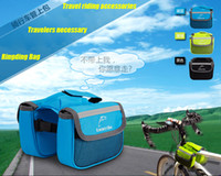 Wholesale 2015 New Cycling Bike Bicycle Front Bag Top Tube Frame Bag Pannier Double Pouch Riding Cellphone Bag High Quality