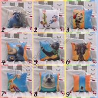 Wholesale 30pcs CCA3535 Hot CM Designs Zootopia Plush Toys Zootopia Pillows Nick Wilde And Judy Hopps Fox Rabbit Cushion Cartoon Throw Pillow