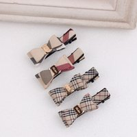 african headwear - Plaid children hair clips Europe and the United States the new girl hairpin fashion bowkont side clamp fine hair headwear accessories