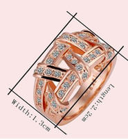 Wholesale R061 Wedding Fashion Jewelry K RGB Gold Plated Plating Zircon Rhinestone Ring US Size Best For Xmas Gift