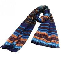 Wholesale Fashion Ladies Scarfs Trendy Bohemian Style Womens Voile Soft Silk Scarf Large Shawl Scarves Pashmina Cape Nice Gift