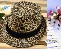 Wholesale Classic Leopard Print Jazz style Hat Fashion Unisex Hat for Men Women Vintage Popular Trendy Cap New Top Hat