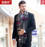 Wholesale Heng Yuan Xiang Men s Wool Characteristic Scarf Winter Autumn Extra Thick Lover Korean Version Check Pattern Warm Neckerchief Business Gift