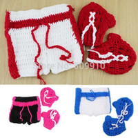 baby boxing shorts - Boxing Gloves Shorts Costume Set Newborn Baby Photography Props Boys Boxer Outfit Shower Gift Colors H206