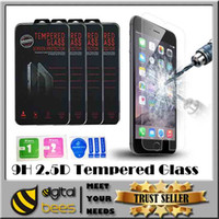 Wholesale For samsung s7 iphone plus tempered glass High quality screen protector clear view temper glass H mm D anti cratch front