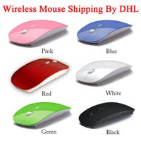 Wholesale 2 G Wireless Optical Mouse Mice Colors Ultra thin Mouse USB Receiver ultrathin Slim Mouse for Laptop Notebook PC Desktop Computer DHL