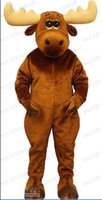adult moose costume - Brand NEW x mas Mascot Costume LOVELY MOOSE DEER Fancy Dress Adult Size