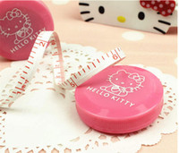 Wholesale Hello Kitty Automatic retractable multipurpose plastic tape measureamount of clothing ulnar cute mini soft ruler A tape measure