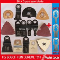 Wholesale 38 per set Oscillating Tool Saw Blades Accessories fit for Multimaster power tools as Fein Dremel etc