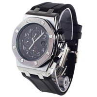 wrist watches for men - Luxury Stylish Dial Sub dials Working Rubber Band with Date Display Wrist Watch for Men Black