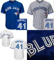 jerseys for kids - Cheap Youth kids Toronto Blue Jays Aaron Sanchez kids stitched Authentic baseball jersey for sale size S XL