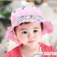 best baby sun hat - best selling Sun Hat Girls Caps Baby Hat Children Caps Kids Summer Hats Flower Lace Princess Visors Bucket Hat Kids Hats Girls Hats