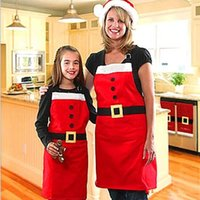 apron china - Kitchen Accessories Cooking Christmas Aprons Decoration Xmas for Women Kid Apron Ornament Holiday Party Gift Supplies China