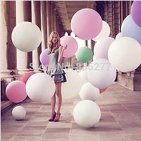 and decoration - Free Inch Super Big Large Wedding Decoration Birthday Party Ballons Thickening Multicolor Latex giant huge Balloon