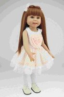 baby bottle princess - Boxed inch full Silicone american Lifelike Realistic pretty girl doll smiling princess with brown wig toys