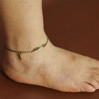arrow shoes - Vintage Bronze Classic Womens Bullet Arrow Crown Bracelet Chain Anklet Barefoot Beach Ankle Foot Shoe Jewelry Accessories A00401