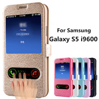 bag designs patterns - Luxury S5 Silk Pattern Flip Cover Case For Samsung Galaxy S5 i9600 SV PU Leather Phone Bag With Stand Design Function Hot Sale