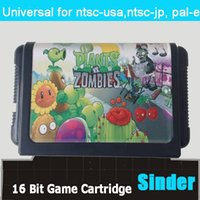 Wholesale New classical bit md game card for bit game console Plants VS Zombies
