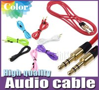 Wholesale 3 mm AUX Audio Cables Male To Male Stereo Car Extension Audio Cable For MP3 For phone Colors DHL