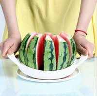 fruit cutter - 2015 Kitchen accessories Kitchen cooking Tools Stainless Steel Watermelon Cantaloupe Slicer Fruit Cutter