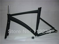 Road Bikes track bike frames - Crazy Price CM Aluminium Alloy Fixie Fixed Gear Frame Track Bike Bicycle Parts with Carbon Fork and Headset