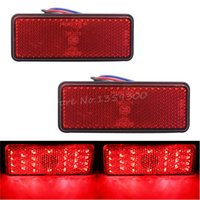 Wholesale New x Universal LED Reflector White Red Yellow Rear Tail Brake Stop Marker Light For SUV Truck Trailer Motorcycle Car order lt no track