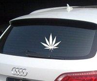 Wholesale Weed Cannabis Plant Vinyl Custom Car Stickers Demon Flowers PVC Cars Decals
