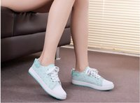 Wholesale Women casual shoes printed women canvas shoes with lace new arrival fashion sports shoes and fitness shoes