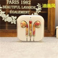 painting studio - Birthday Gift New Cute Floral Painted mm In Ear Earphone Earbud For iPhone s s For Samsung Headphone Headset