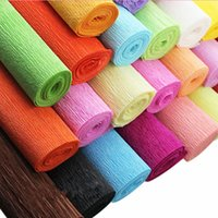 Wholesale 200Pcs L cm Solid Color Gift Wrapping Supplies Flower Wrapping Paper Crepe Paper Holiday Birthday Xmas Wrapping Lamp Paper Shades