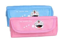 Wholesale Nylon Soft kids child Pencil Case School Supplier Student Stationery Pen Box Bag with Lovely Cartoon Design