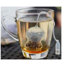 applied silicone - 2015 Deep Tea Diver Infuser Loose Leaf Strainer Bag Mug Filter Friends Applied Silicine Tea bag