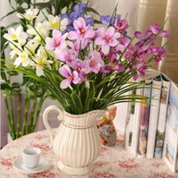 artificial orchid pot - Artificial flowers orchid colors Incense of the decorative flower simulation flowers artificial flowers potted household decoration